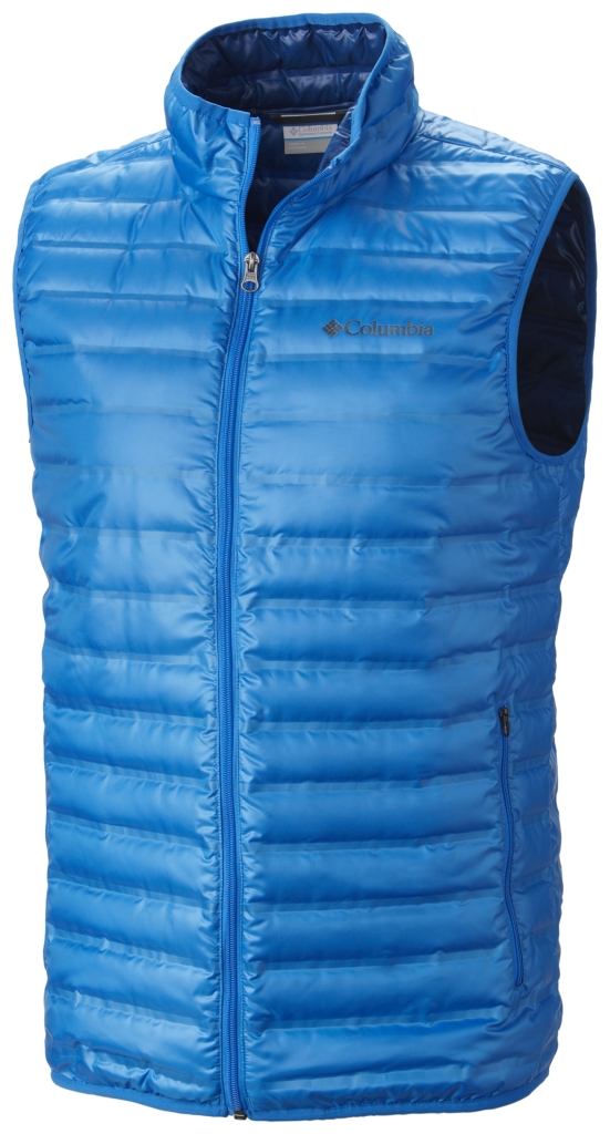 Columbia Men'S Flash Forward Down Vest Hyper Blue-30