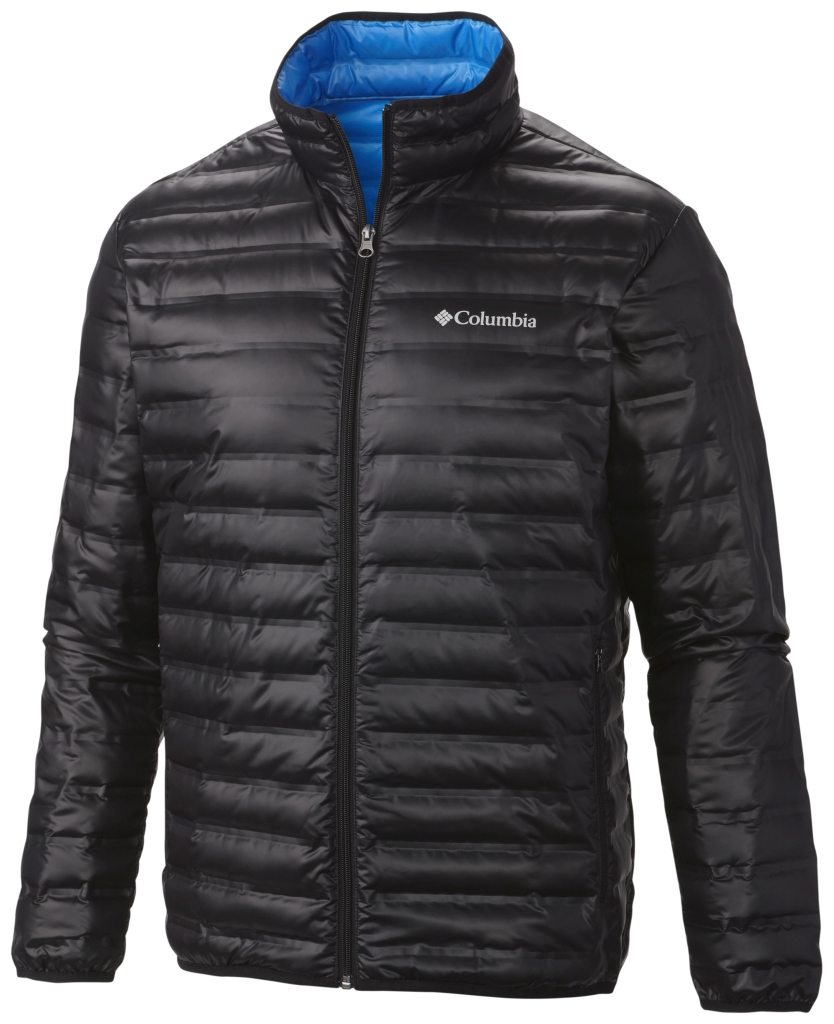 Columbia Men's Flash Forward Down Jacket Black Hyper Blue-30