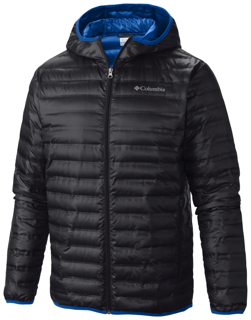 Columbia Flash Forward Daunenjacke Mit Kapuze Für Herren Black Hyper Blue-30