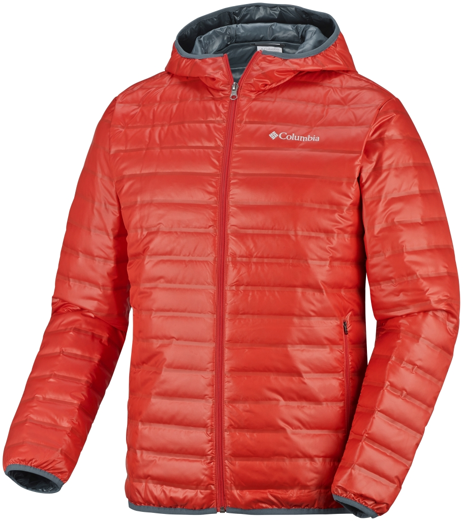 Columbia Men's Flash Forward Down Hooded Jacket Spicy-30