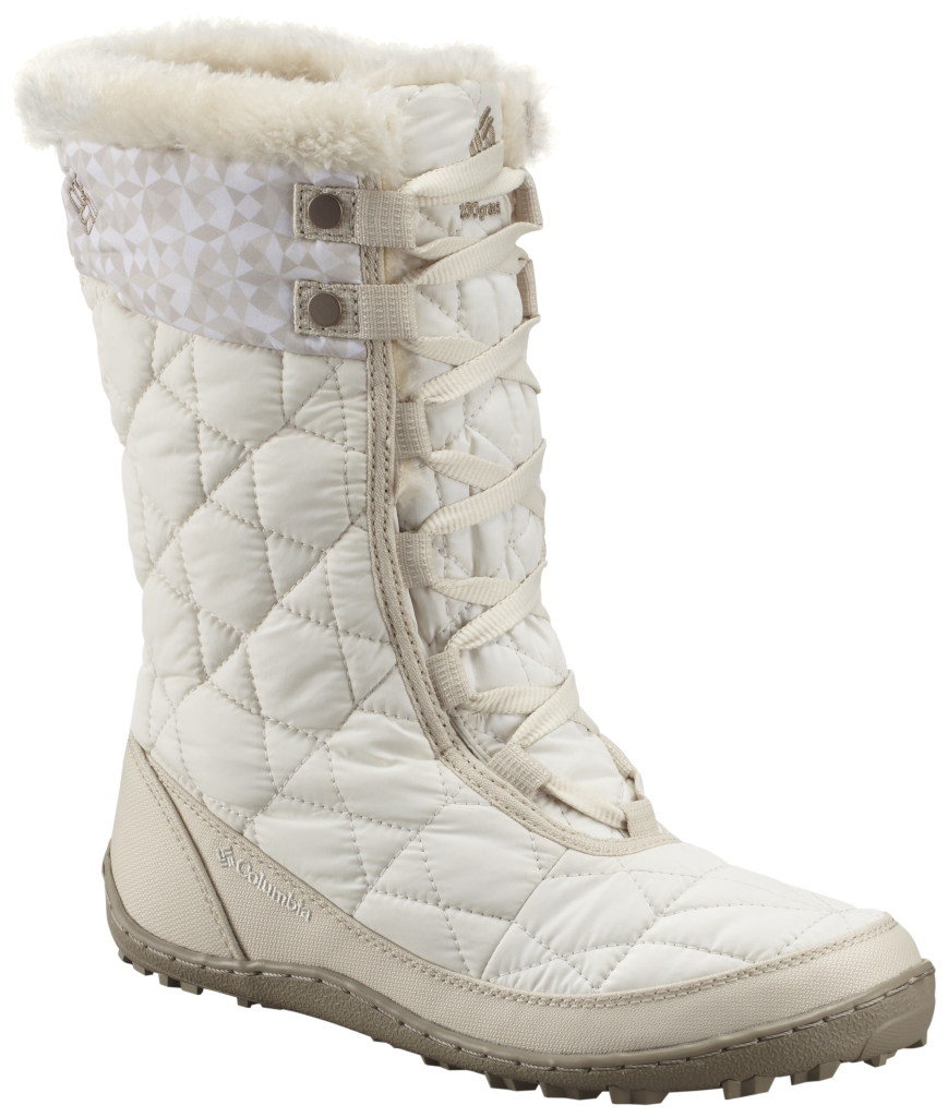 Columbia Women'S Minx Mid Omni-Heat Print Boot Sea Salt Silver Sage-30