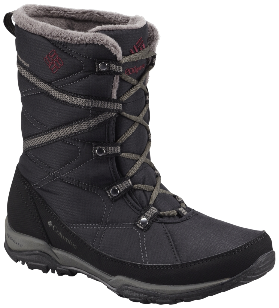 Columbia Women's Minx Fire Tall Omni-Heat Waterproof Black Dark Raspberry-30