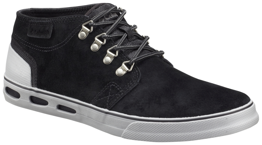 Columbia Men´s Vulc N' Vent Half Dome Leather Shoe Black Light Grey-30