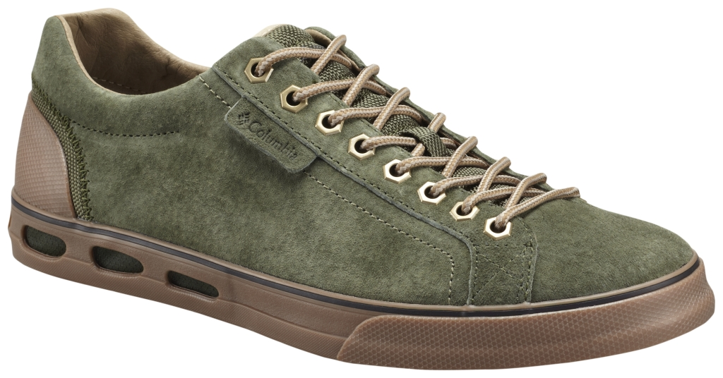 Columbia Men's Vulc N' Vent Camp 4 Low Shoe Surplus Green British Tan-30