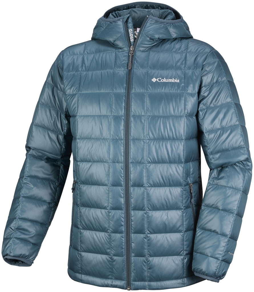 Columbia Men's Trask Mountain 650 TurboDown Hooded Jacket Everblue-30