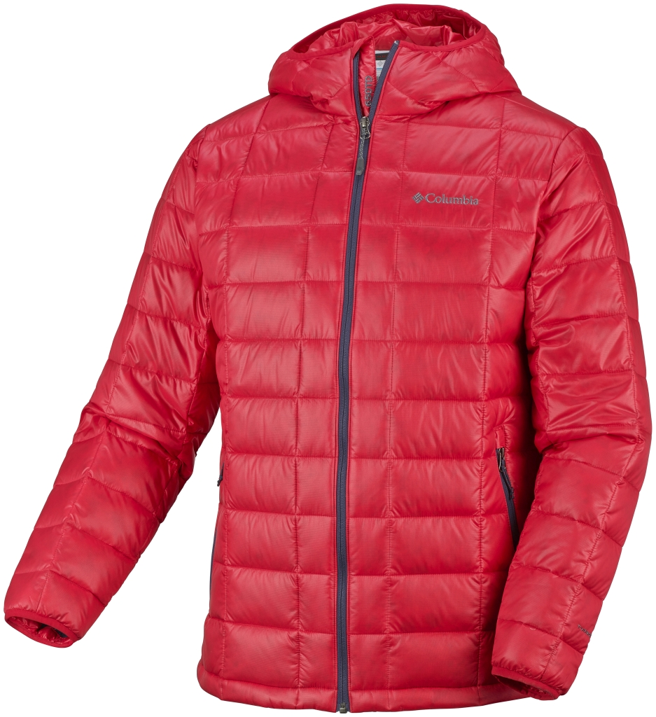 Columbia Men's Trask Mountain 650 TurboDown Hooded Jacket Bright Red-30