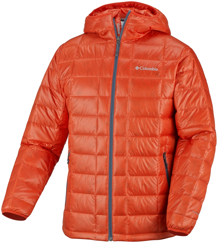 Columbia Men's Trask Mountain 650 TurboDown Hooded Jacket Spicy-30