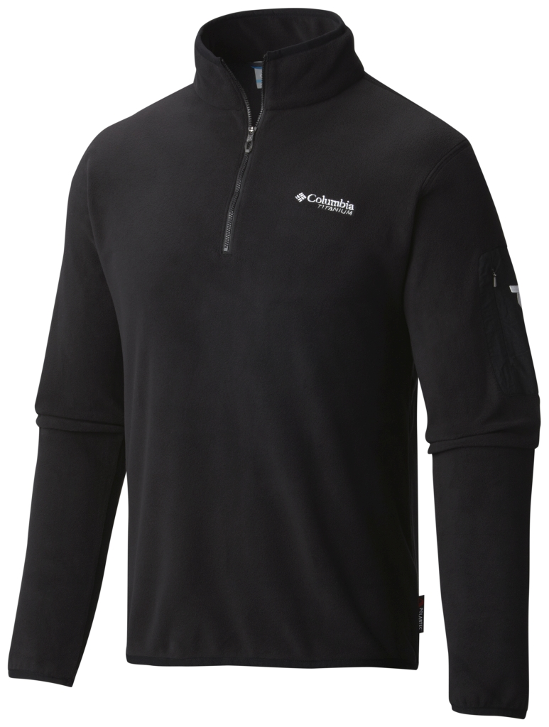 Columbia Men's Titan Pass 1.0 Half Zip Fleece Black-30