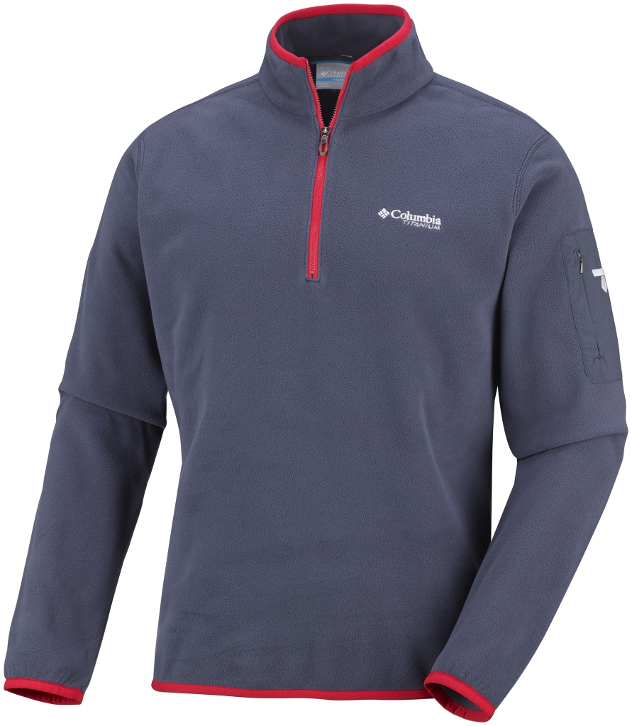 Columbia Men's Titan Pass 1.0 Half Zip Fleece Nocturnal-30
