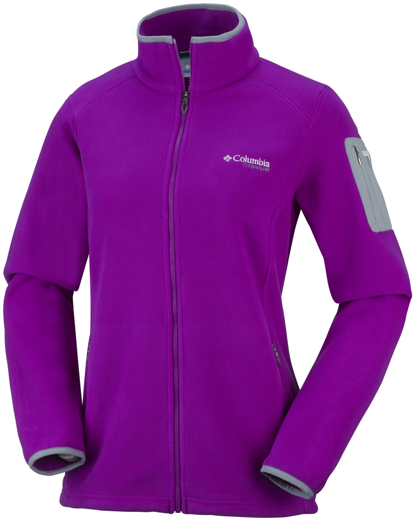 Columbia Titan Pass 2.0 Fleecejacke Für Damen Bright Plum-30