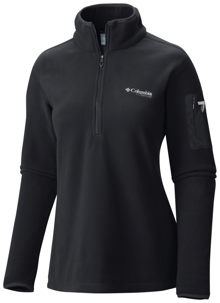 Columbia Women's Titan Pass 1.0 Half Zip Fleece Black-30