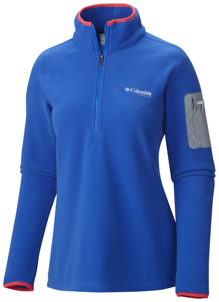 Columbia Women's Titan Pass 1.0 Half Zip Fleece Blue Macaw-30