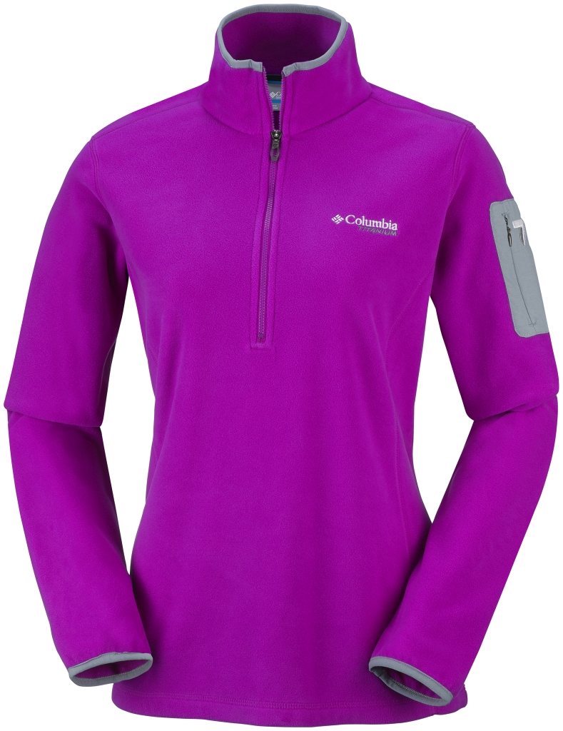 Columbia Women's Titan Pass 1.0 Half Zip Fleece Bright Plum-30
