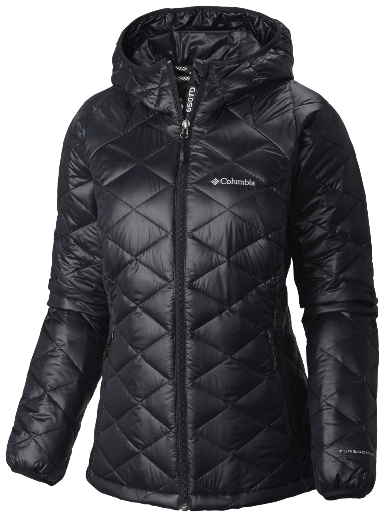 Columbia Trask Mountain 650 Turbodown Damenjacke Mit Kapuze Black-30