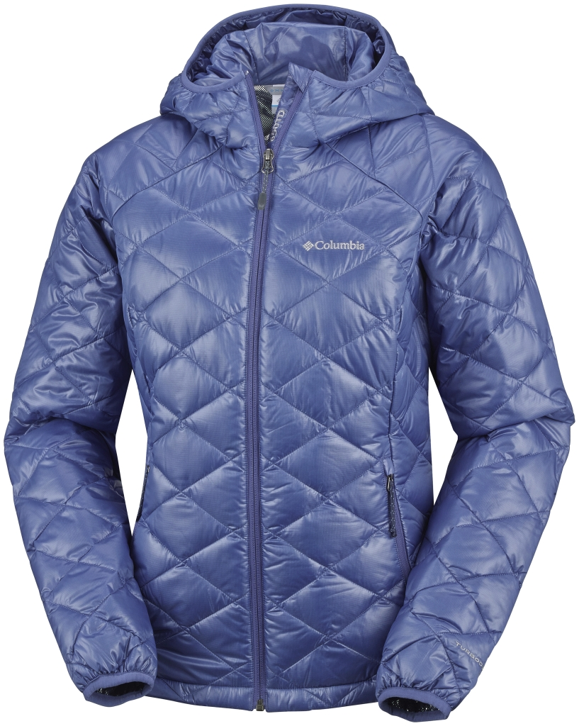 Columbia Trask Mountain 650 Turbodown Damenjacke Mit Kapuze Bluebell-30