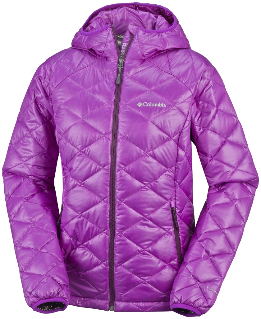 Columbia Women's Trask Mountain 650 Turbodown Hooded Jacket Bright Plum Purple Dahlia-30