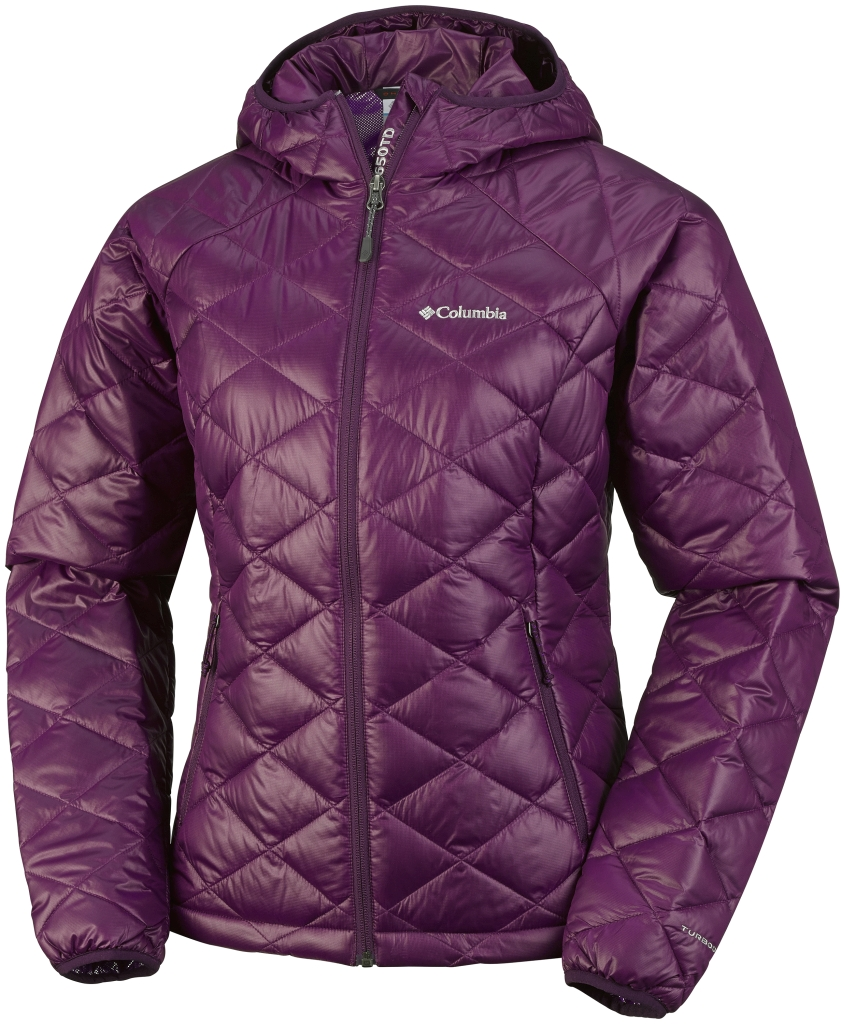 Columbia Women's Trask Mountain 650 Turbodown Hooded Jacket Purple Dahlia-30