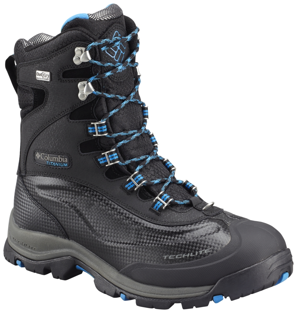Columbia Men's Bugaboot Plus III Titanium Omni-Heat Black Hyper Blue-30