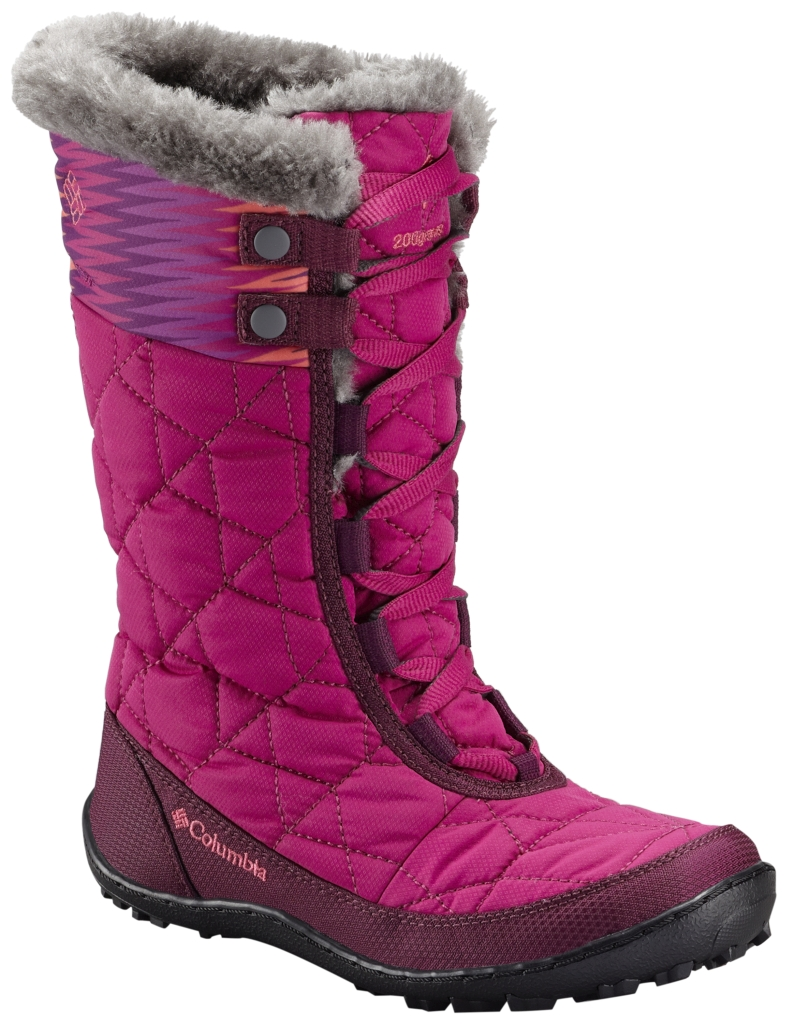Columbia Youth Minx Mid II Waterproof Omni-Heat Boot Deep Blush Tropic Pink-30