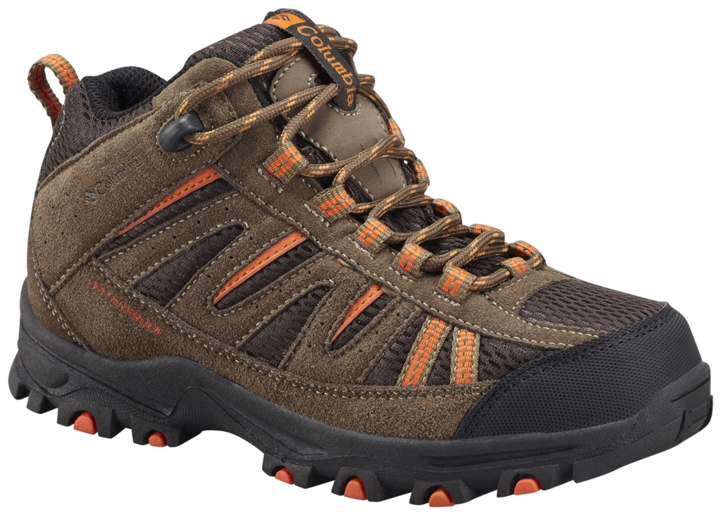 Columbia Youth Pisgah Peak Mid Waterproof Hiking Boot Mud-30