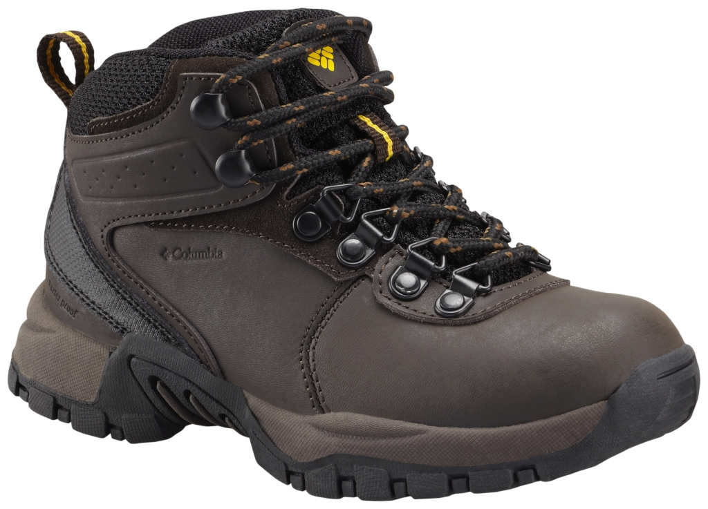 Columbia Youth Newton Ridge Waterproof Hiking Shoe Cordovan-30
