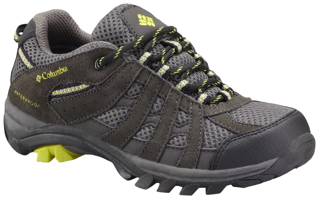 Columbia Youth Redmond Explore Waterproof Trail Shoe Shark-30
