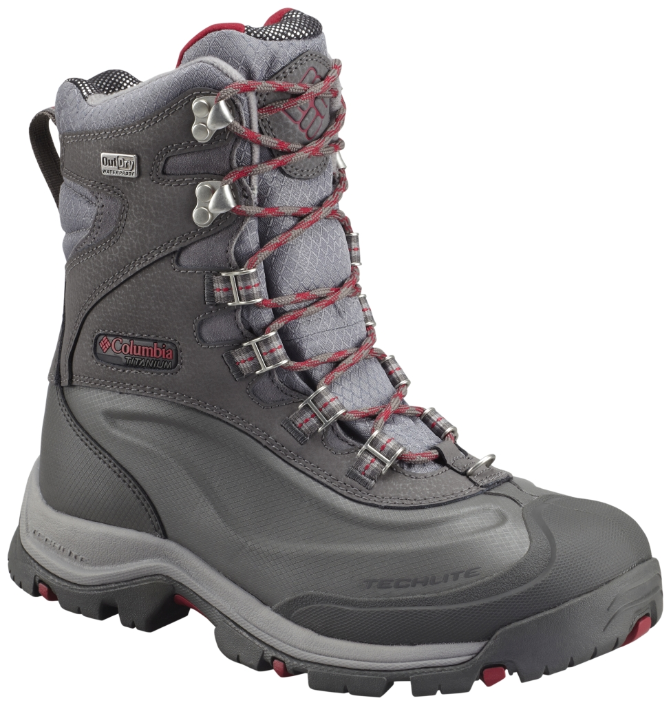Columbia Women's Bugaboot Plus III Titanium Outdry Omni-Heat Boot 8.5 Shale Pomegranate-30
