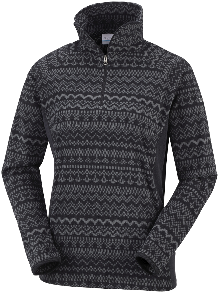 Columbia Women's Glacial Fleece III Print Half Zip Black fairisle-30