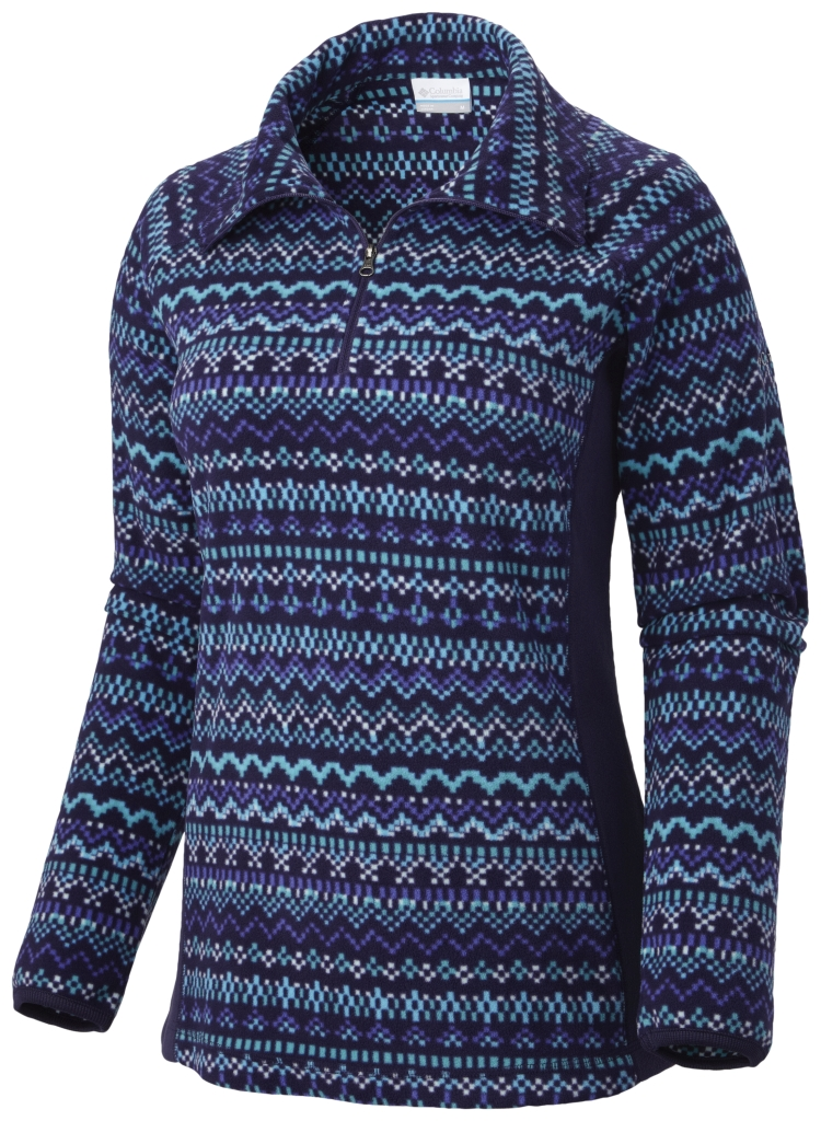 Columbia Women's Glacial Fleece III Print Half Zip Inkling Fairisle-30