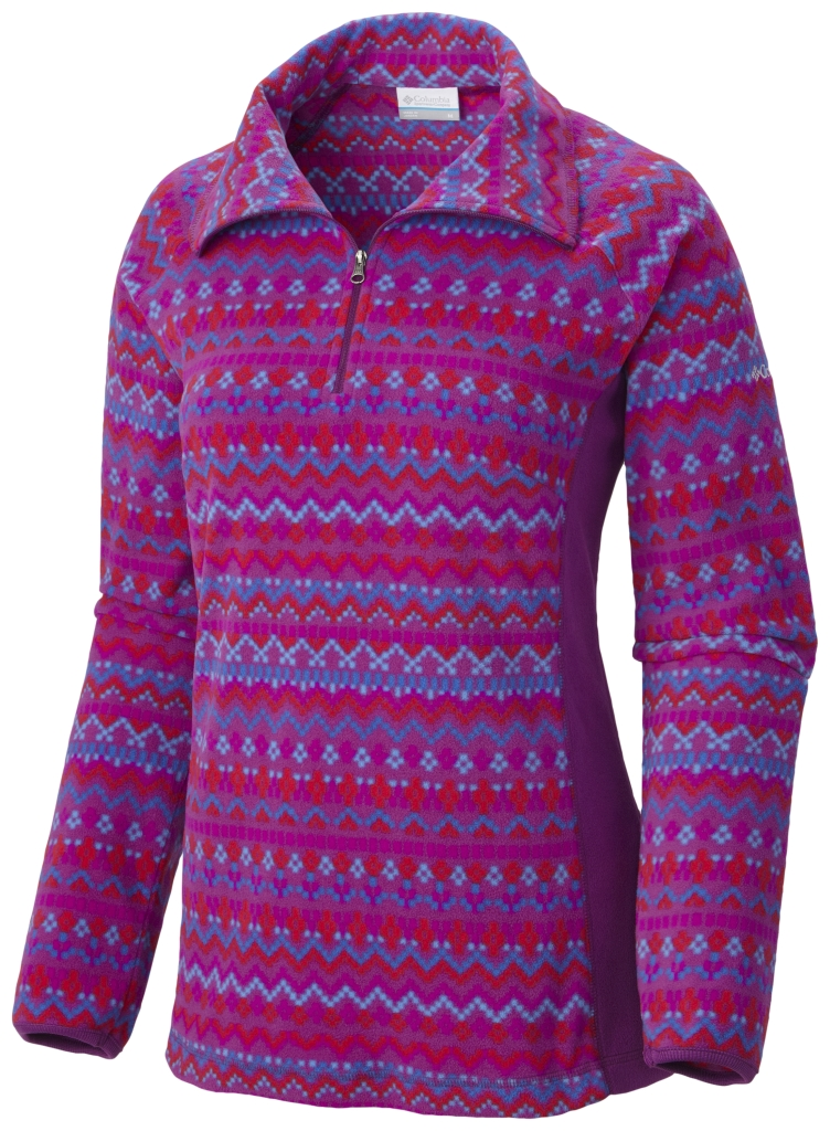 Columbia Women's Glacial Fleece III Print Half Zip Plum Fairisle-30