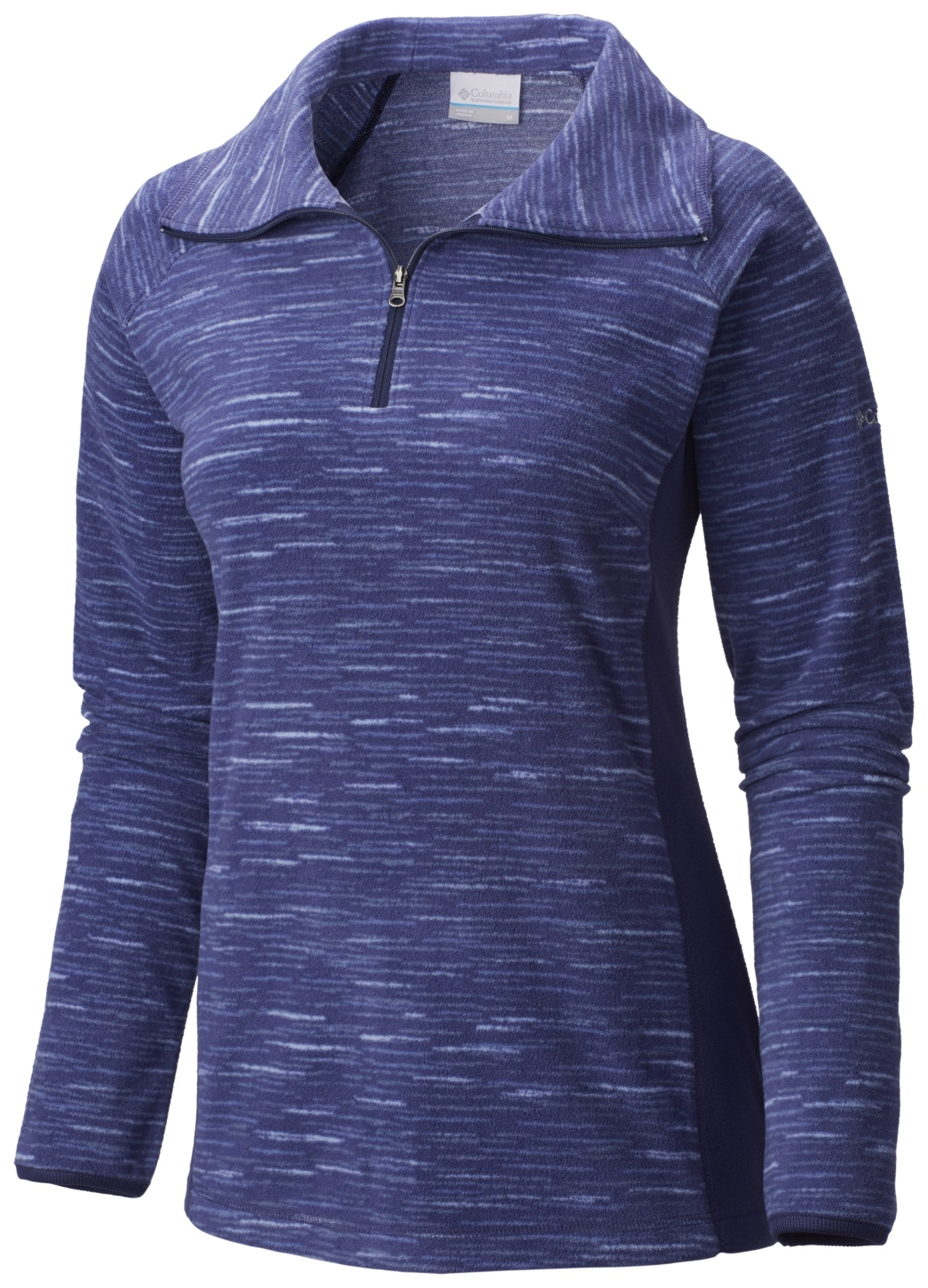 Columbia Women's Glacial Fleece III Print Half Zip Top Nightshade Strata-30