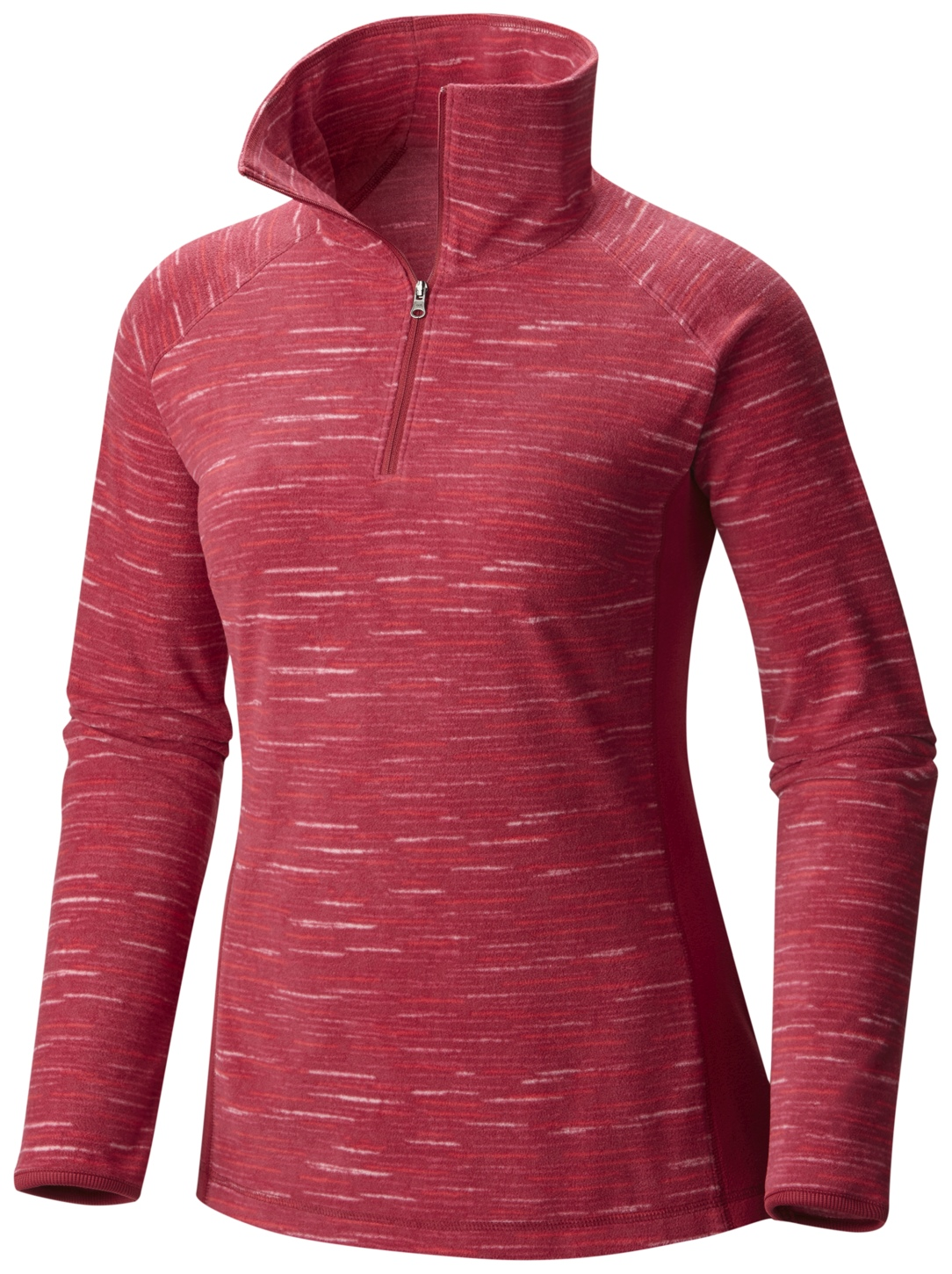 Columbia Women's Glacial Fleece III Print Half Zip Top Red Orchid Strata-30