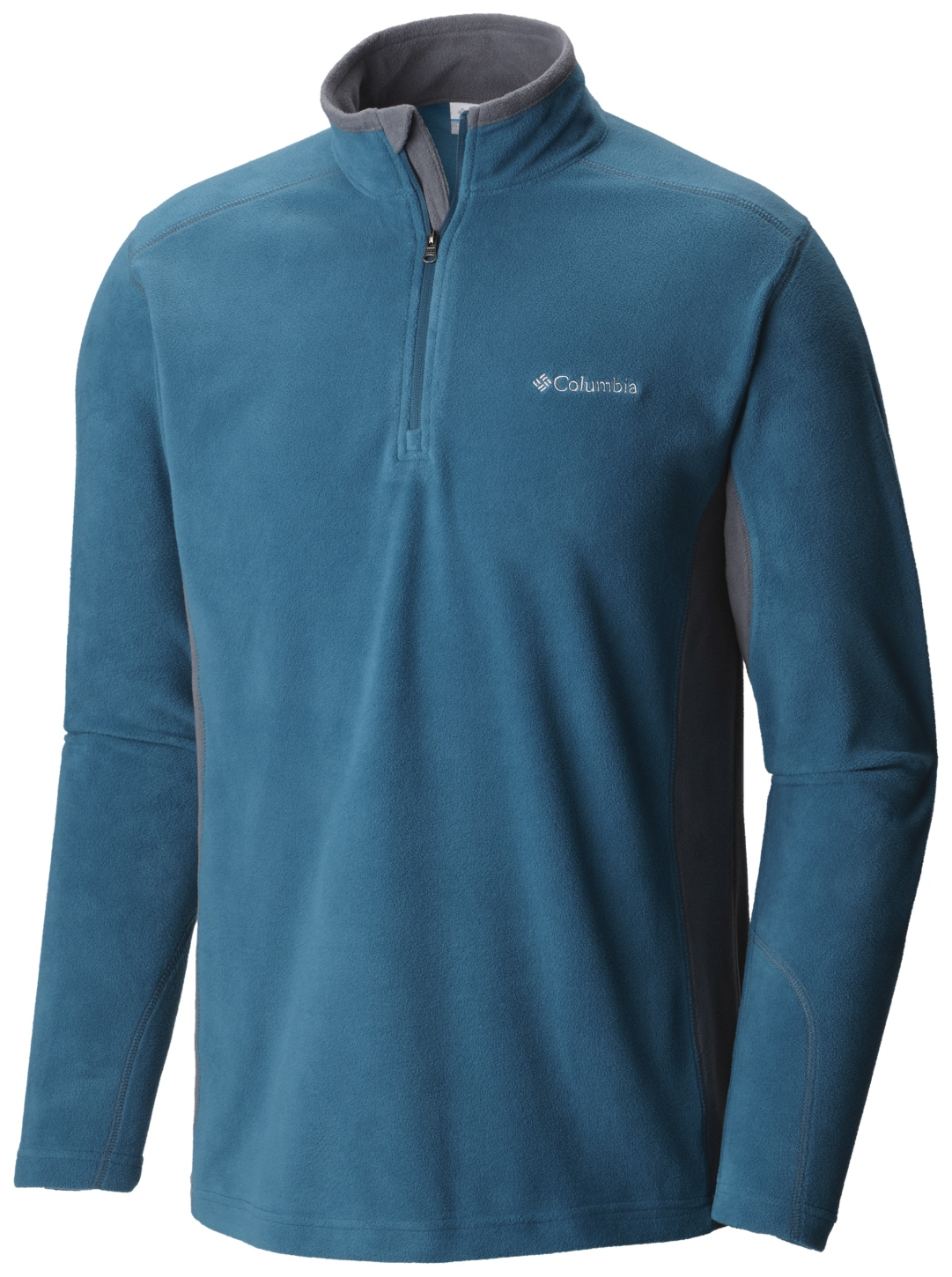 Columbia Men's Klamath Range II Half Zip Deep Water, Graphite-30