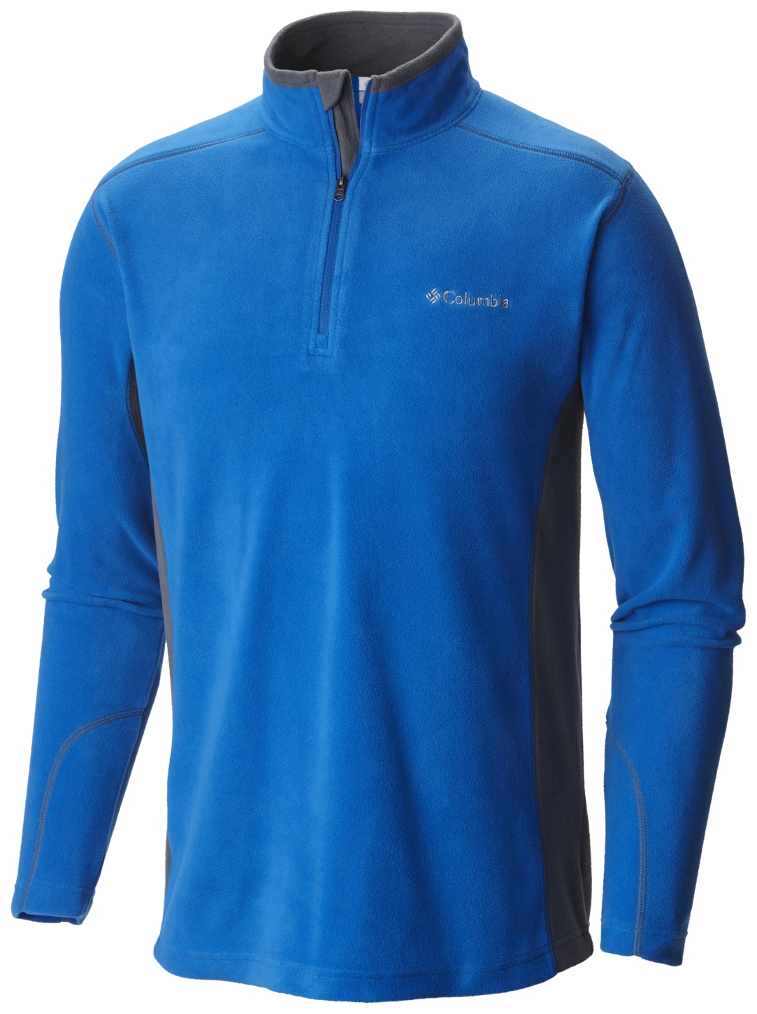 Columbia Men's Klamath Range II Half Zip Super Blue, Graphite-30
