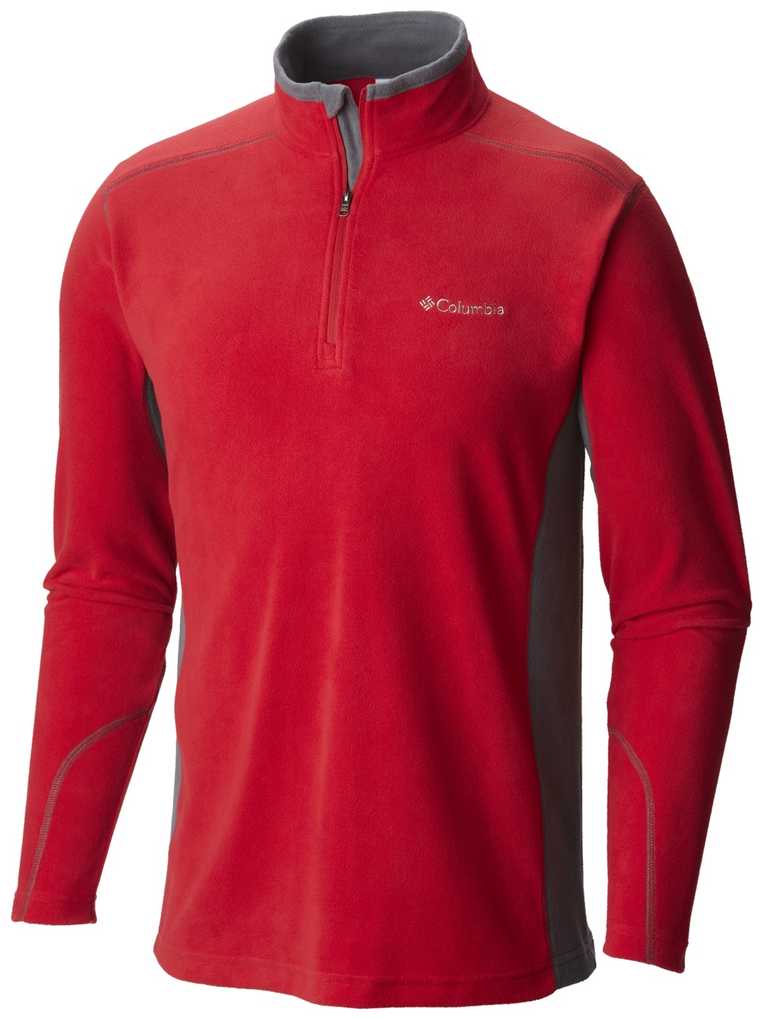Columbia Men's Klamath Range II Half Zip Mountain Red, Graphite-30