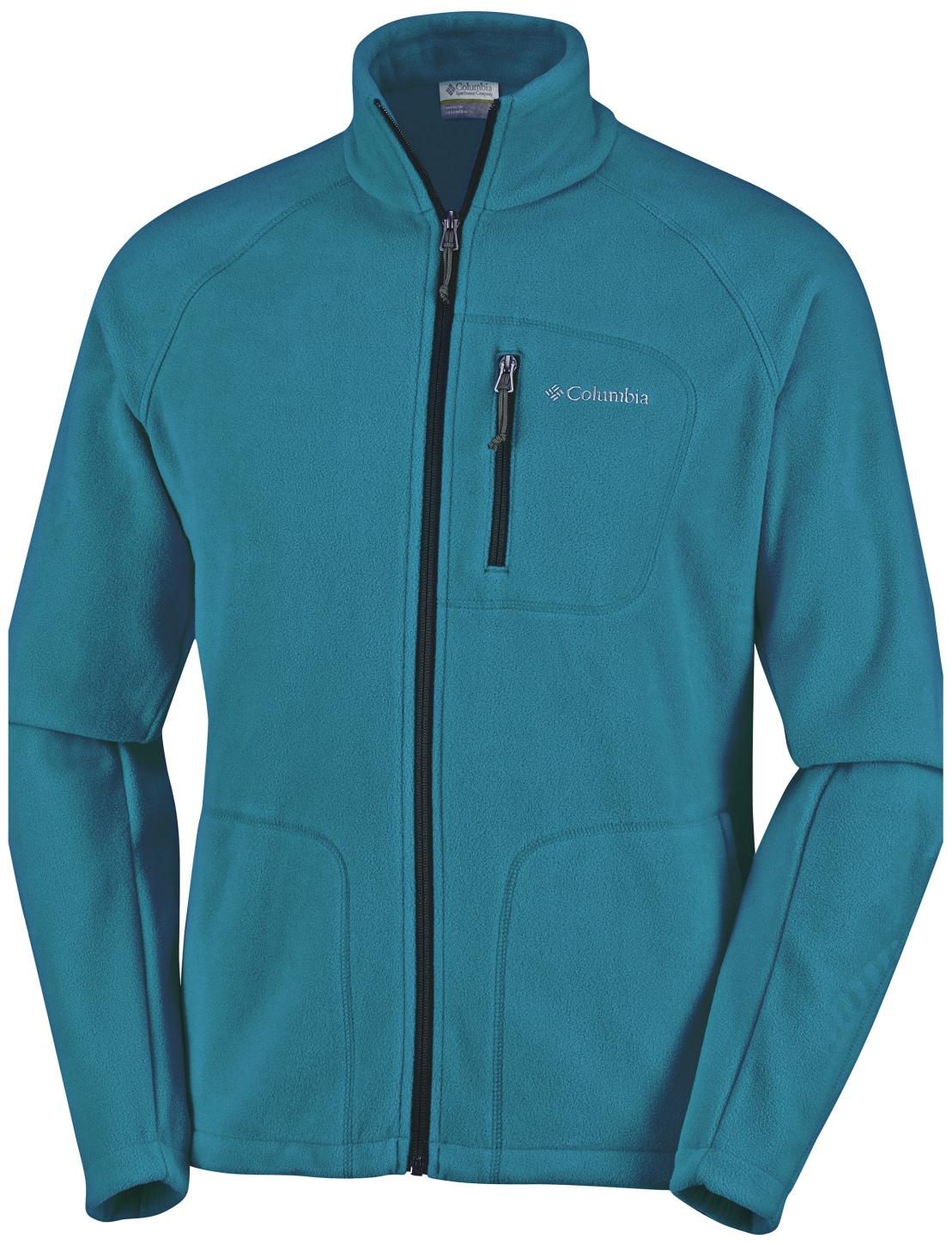 Columbia Men's Fast Trek II Full Zip Fleece Deep Water, Night Shadow-30