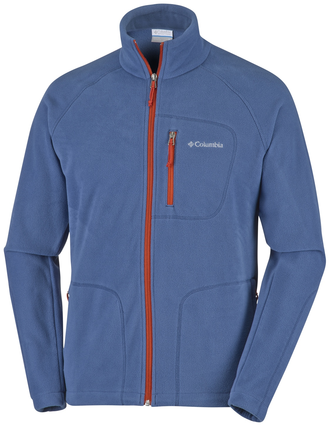 Columbia Men's Fast Trek II Full Zip Fleece Night Tide, Rust Red-30