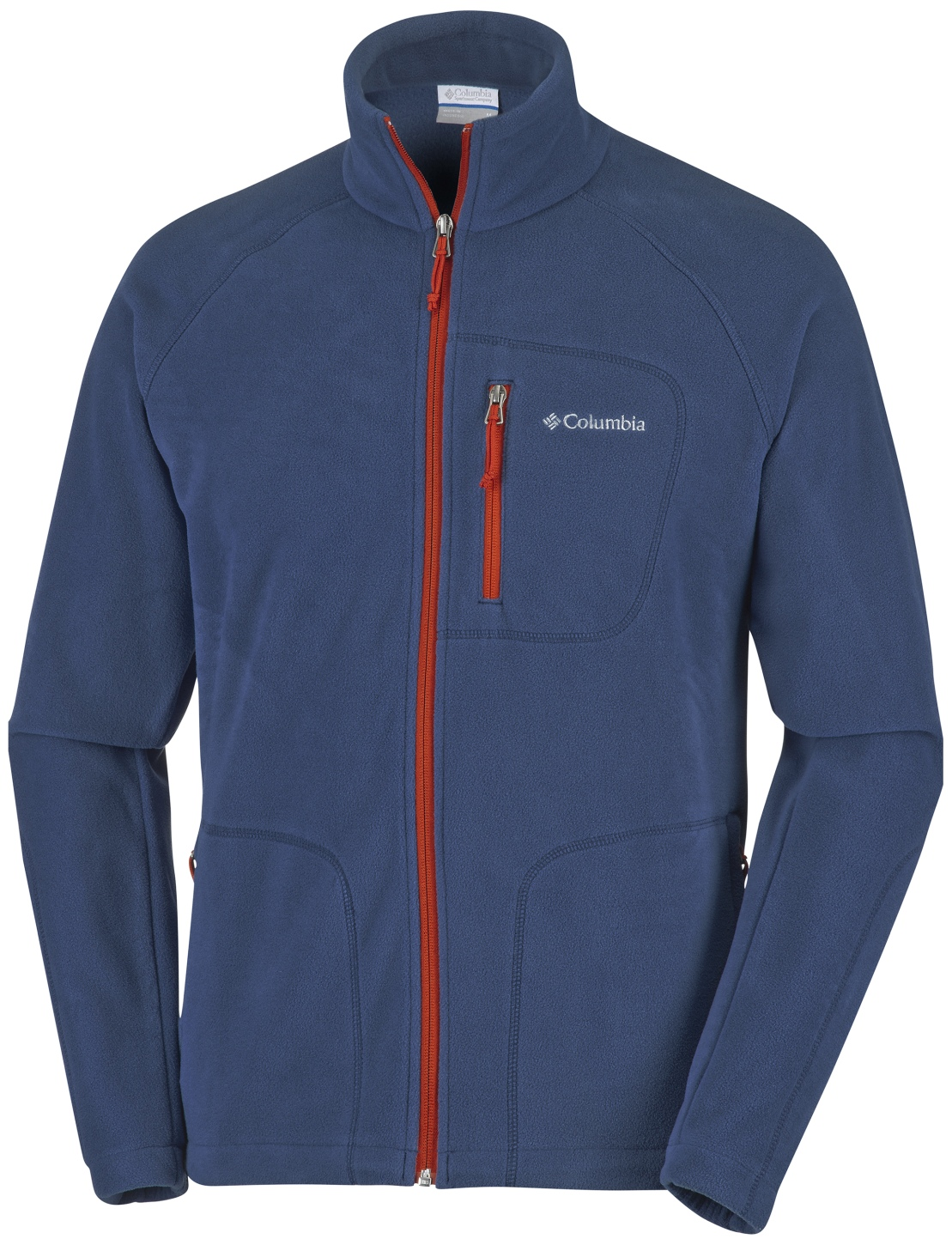 Columbia Men's Fast Trek II Full Zip Fleece Collegiate Navy, Rust Red-30