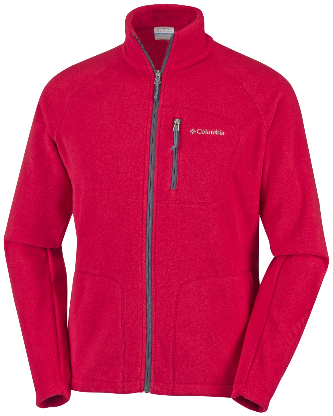 Columbia Men's Fast Trek II Full Zip Fleece Mountain Red, Graphite-30