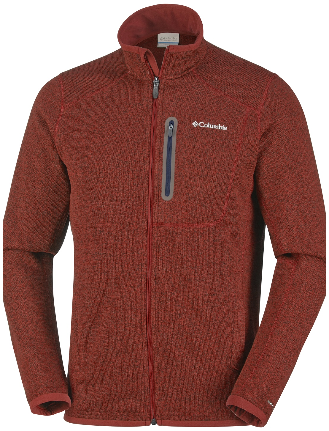 Columbia Men's Altitude Aspect Full Zip Fleece Rust Red Heather-30