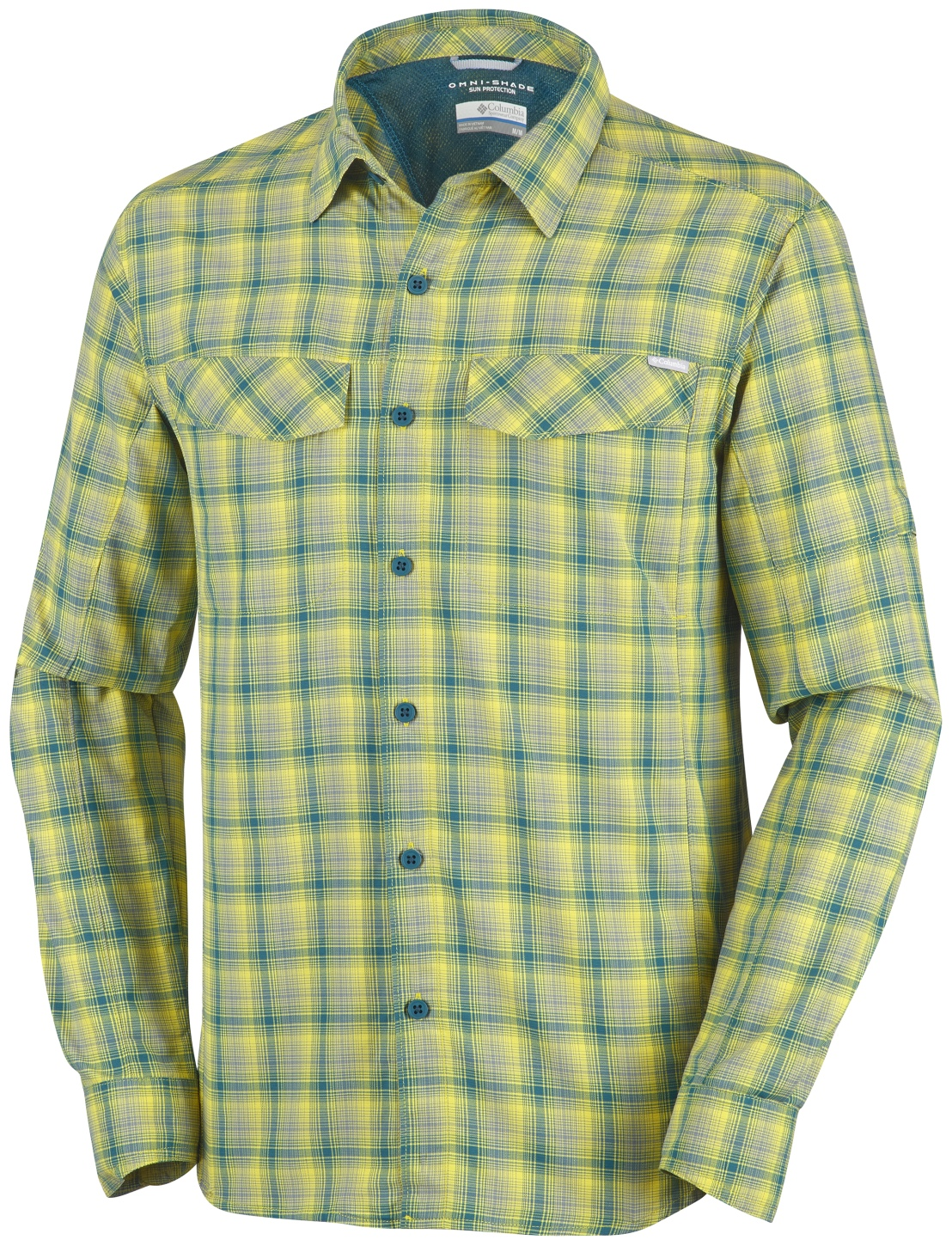 Columbia Men's Silver Ridge Plaid Long Sleeve Shirt Mineral Yellow-30