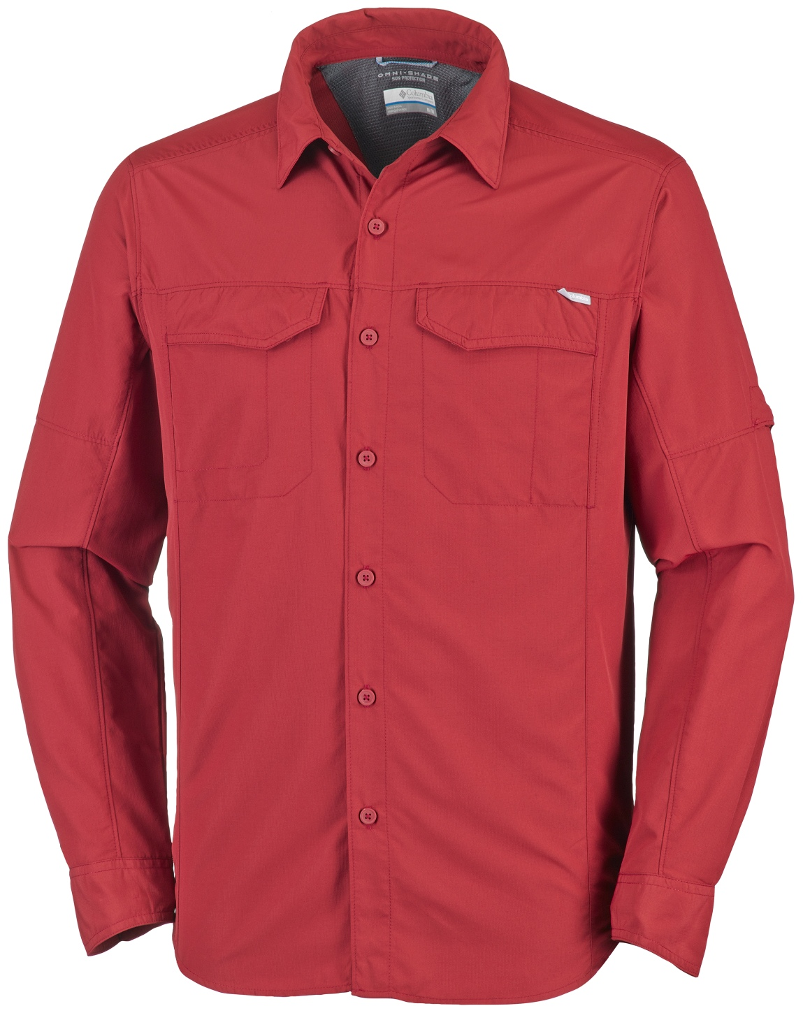 Columbia Men's Silver Ridge Long Sleeve Shirt Red Element-30