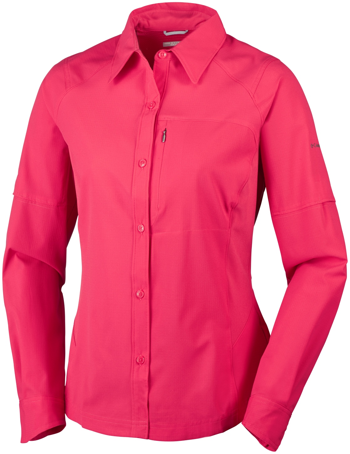 Columbia Women's Silver Ridge Long Sleeve Shirt Red Camellia-30