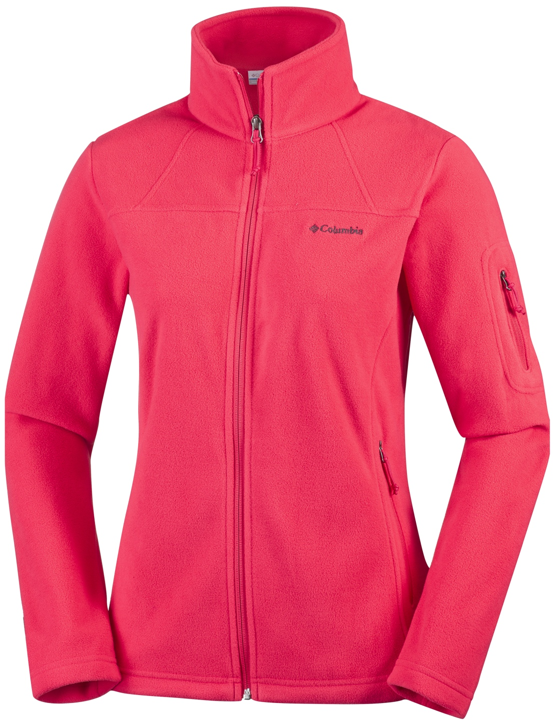 Columbia Women's Fast Trek II Jacket Red Camellia-30