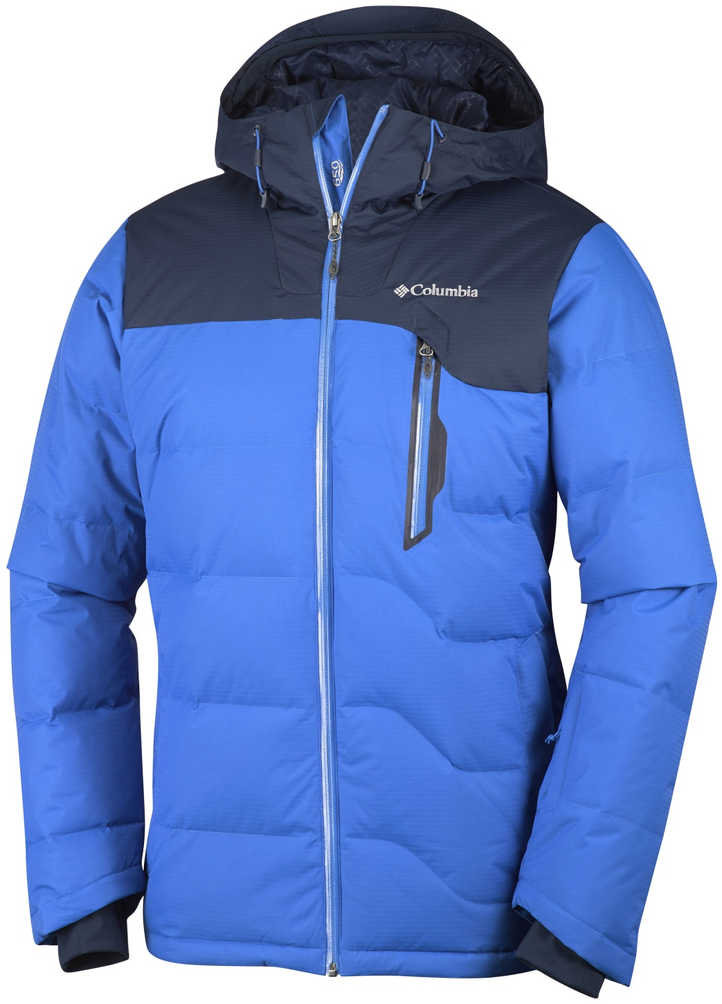 Columbia Men's M Powder Down Jacket Super Blue, Collegiate Navy-30