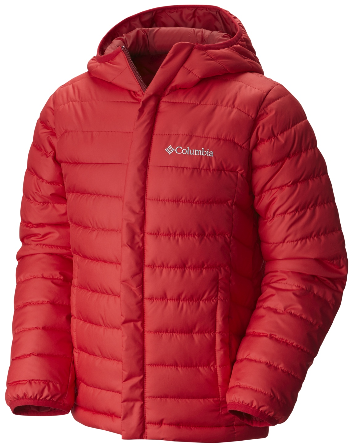 Columbia Boys' Powder Lite Puffer Jacket Mountain Red-30