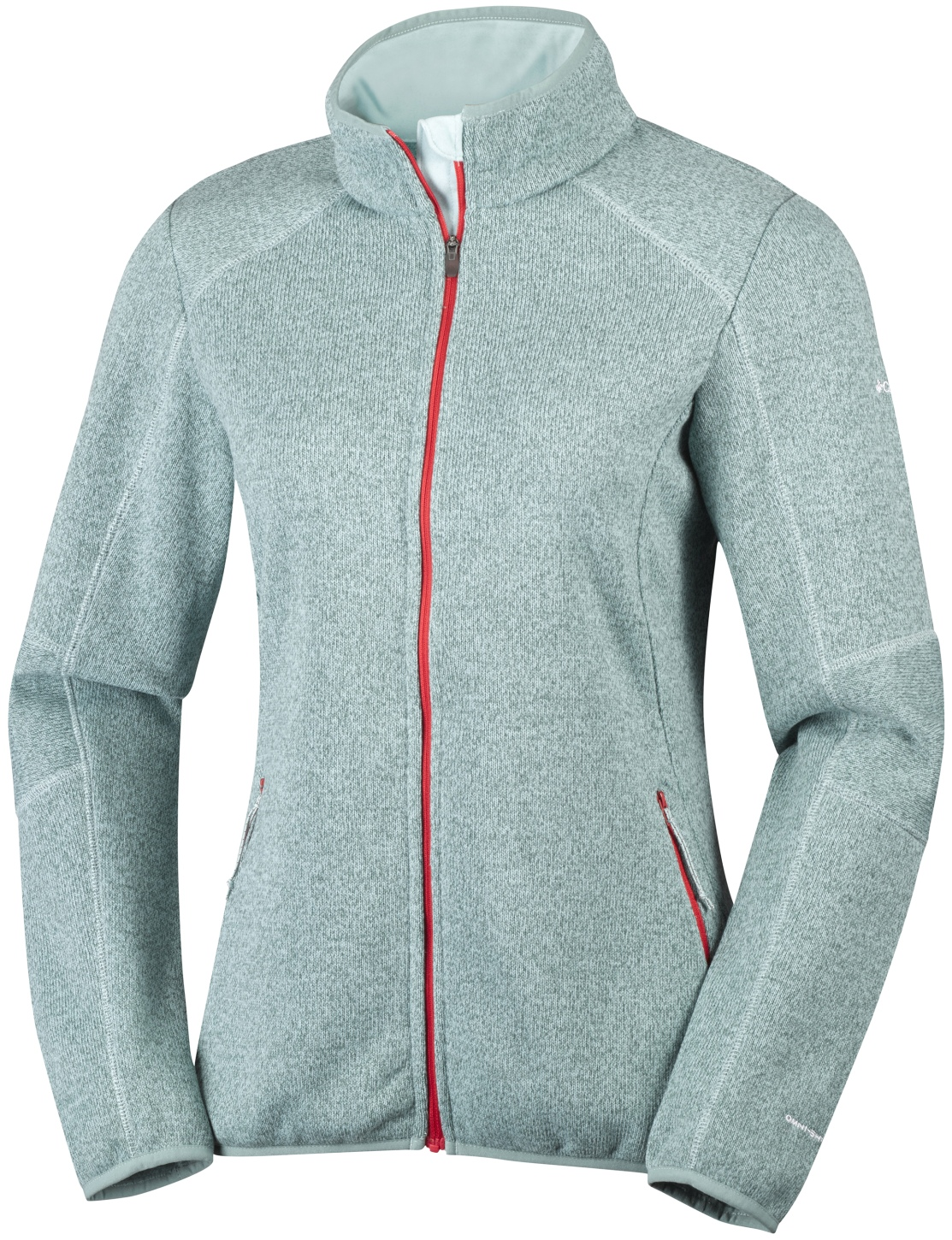 Columbia Women's Altitude Aspect Full Zip Knit Top Spray Heather-30