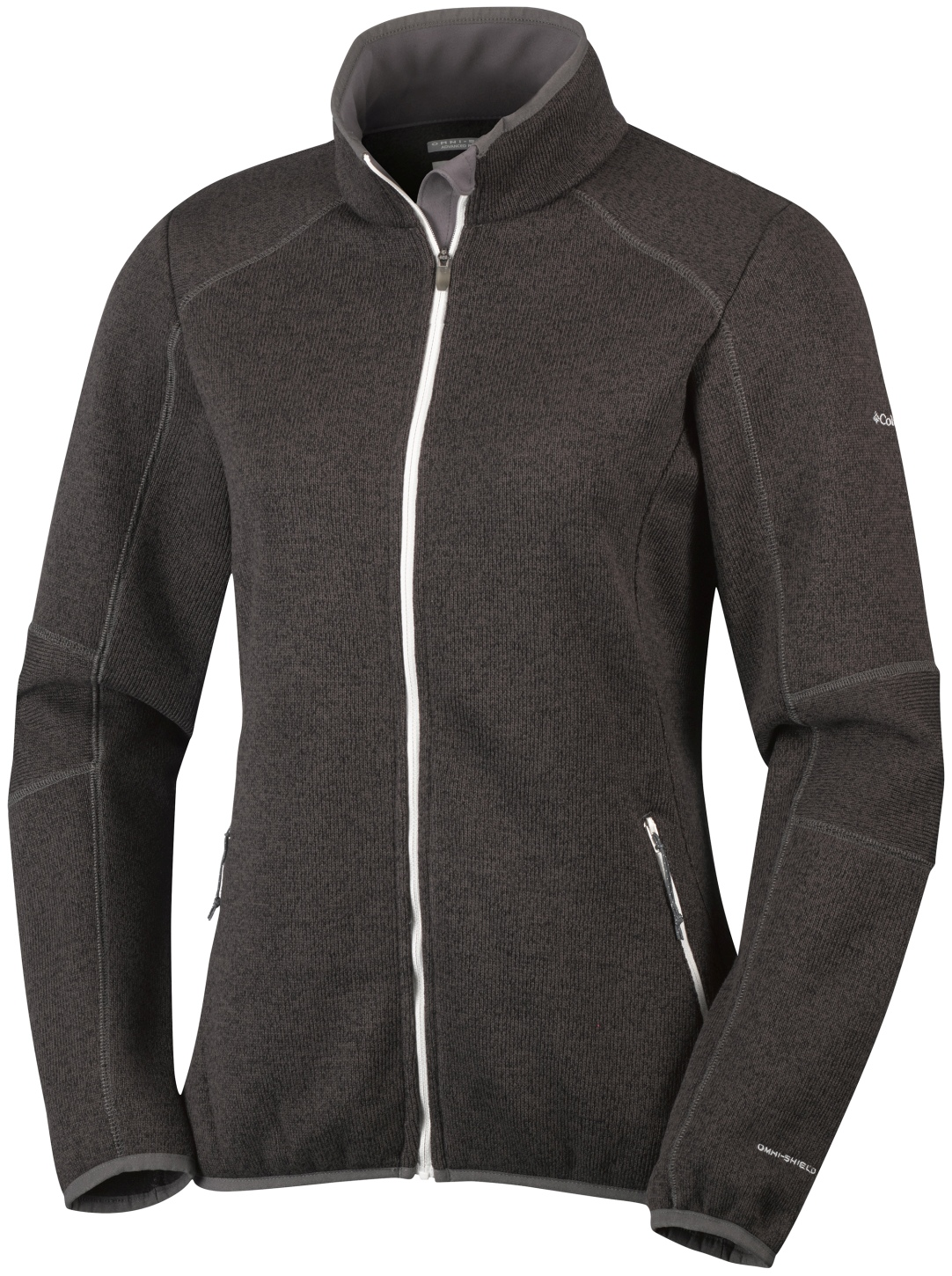 Columbia Women's Altitude Aspect Full Zip Knit Top Mineshaft Heather-30