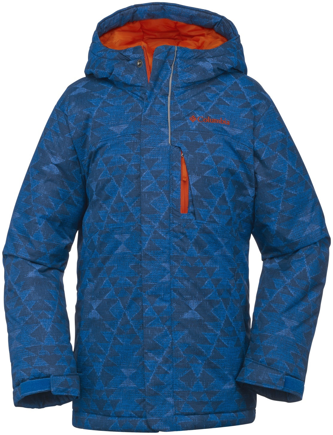 Columbia Boys' Alpine Free Fall Ski Jacket Super Blue Print-30