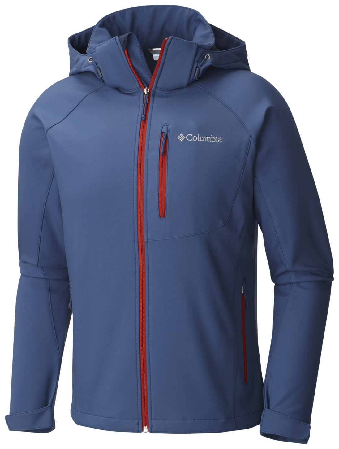 Columbia Men's Cascade Ridge II Softshell Top Night Tide-30